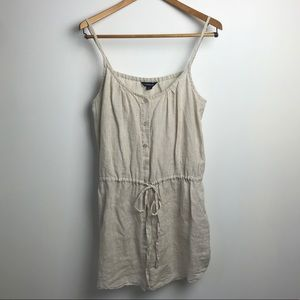 Lands' End Button Down Linen dress, sz M
